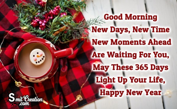 Good Morning Happy New Year Wish