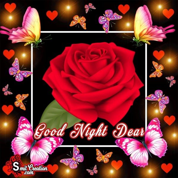 Good Night Dear Flower Image