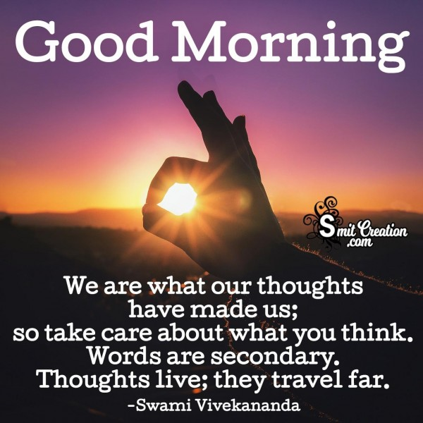 Good Morning Thoughtful Quote