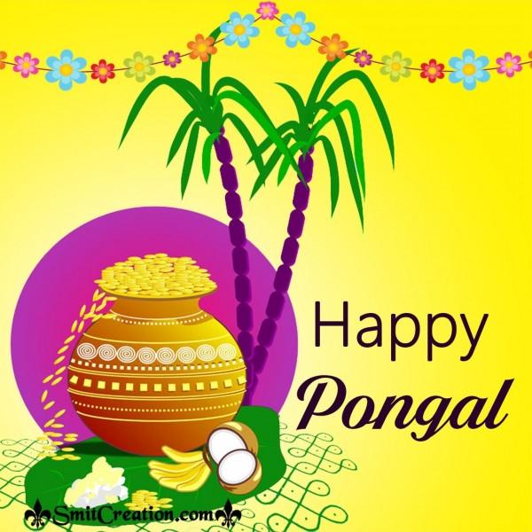Happy Pongal Greeting Card