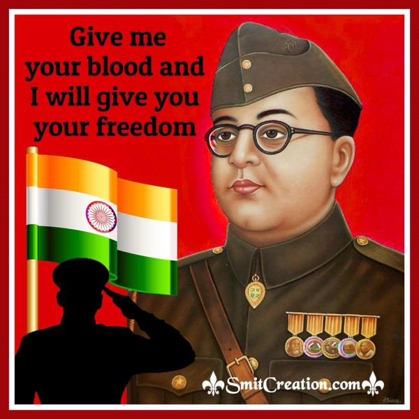 Give Me Your Blood And I Will Give You Your Freedom