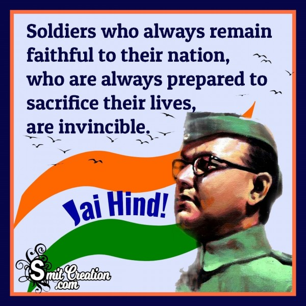 Soldiers Who Always Remain Faithful To Their Nation