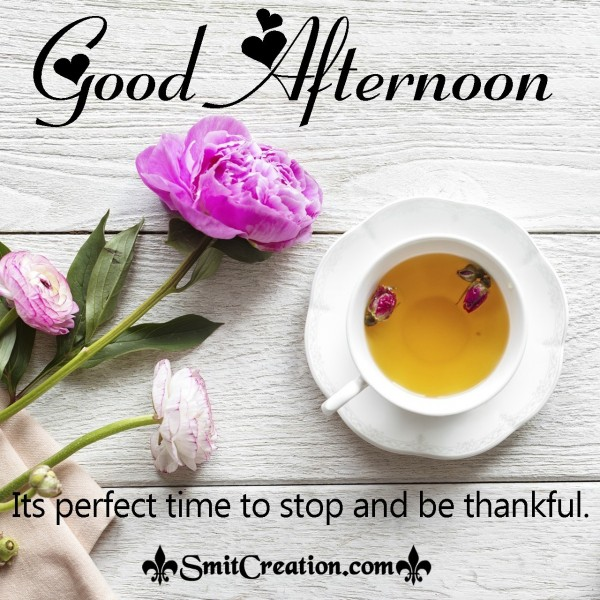 Good Afternoon – Its A Perdect Time To Stop And Be Thankful