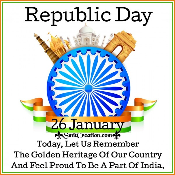 Republic Day Quote On Golden Heritage Of India