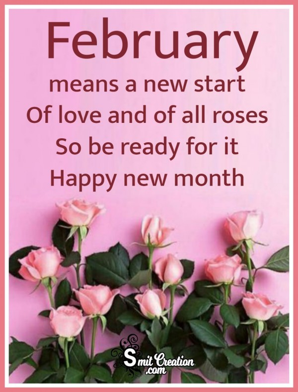 February Means A New Start Of Love