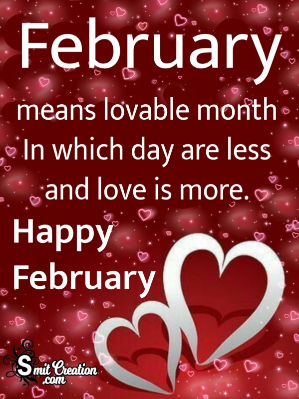 February Means Lovable Month