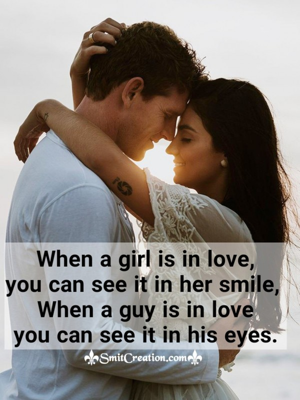 When A Girl Is In Love You Can See It In Her Smile