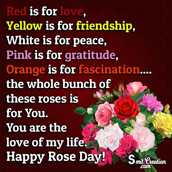Rose Day Wishes For Love Of My Life
