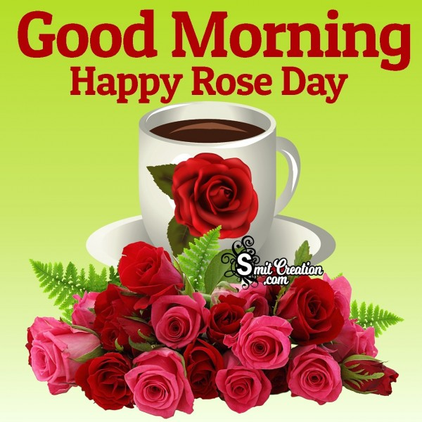 Good Morning Happy Rose Day Card