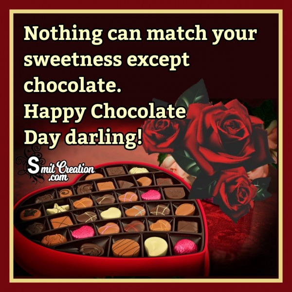 Happy Chocolate Day Message To Darling