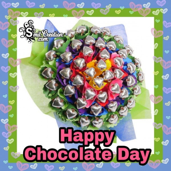 Happy Chocolate Day Beautiful Bouquet