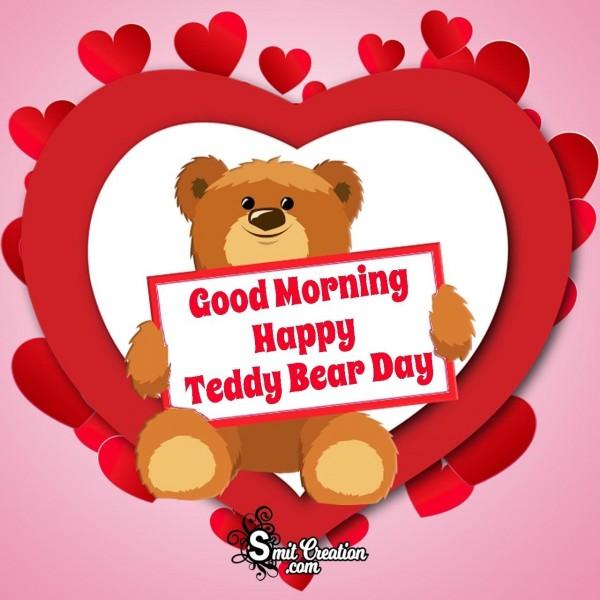 Good Morning Happy Teddy Bear Day Photo