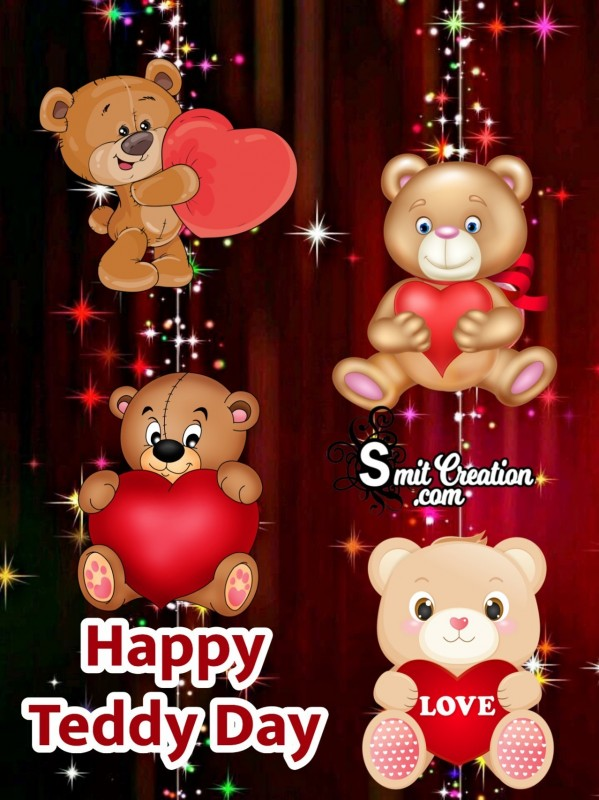 Happy Teddy Day Wall Paper