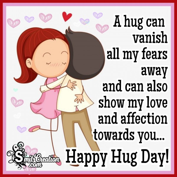 Hug Day Wishes For Dear