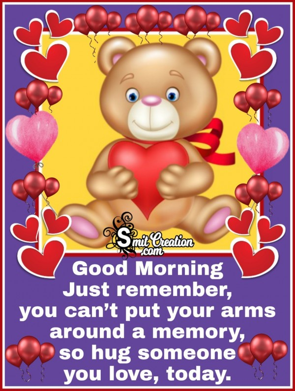Good Morning Best Hug Quote