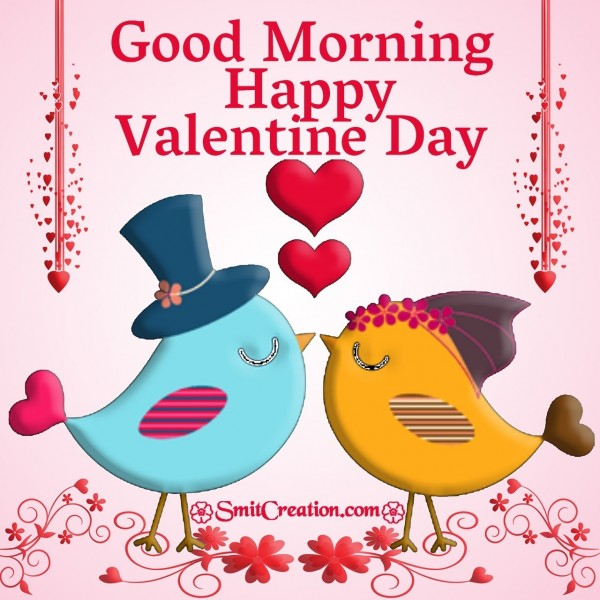 Good Morning Valentine Day Love Birds