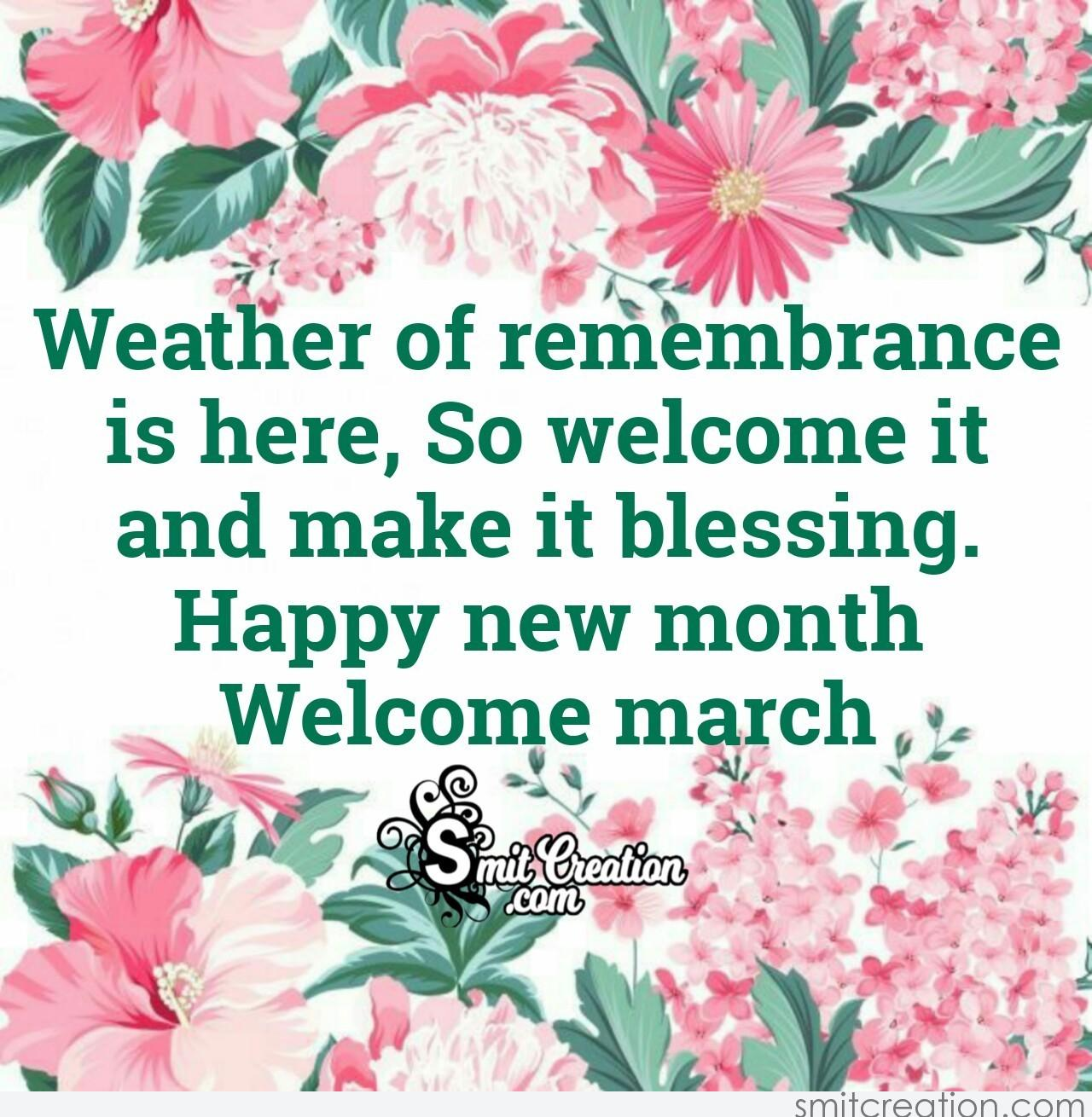Happy New Month Welcome March Smitcreation Com