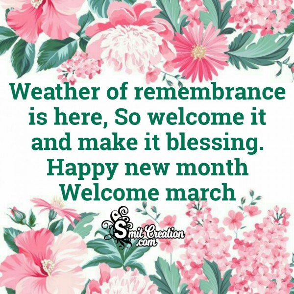Happy New Month Welcome March