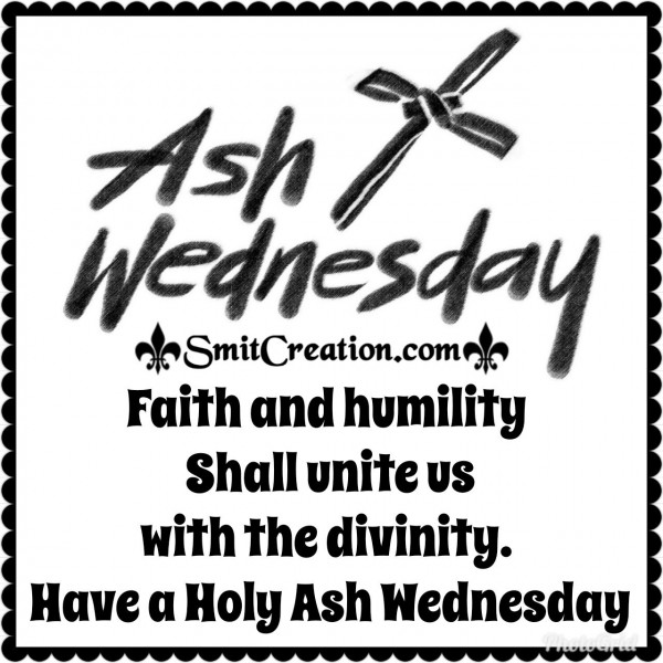 Ash Wednesday Message