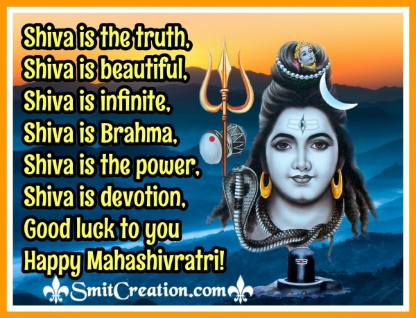 Good Luck To You Mahashivratri!