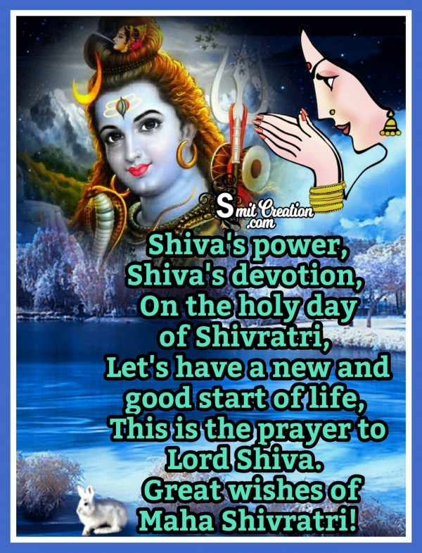 Great Wishes Of Maha Shivratri!