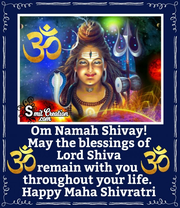 Happy Maha Shivratri Blessings