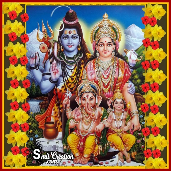 Lord Shiva With Family