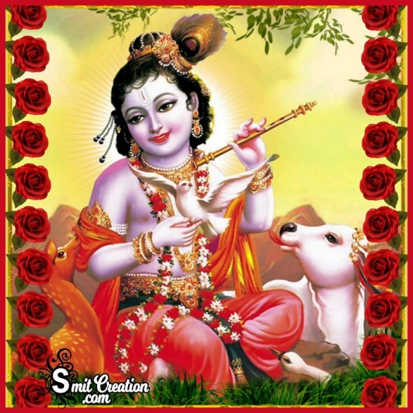 Bal Roop Of Krishna With Flute Wallpaper
