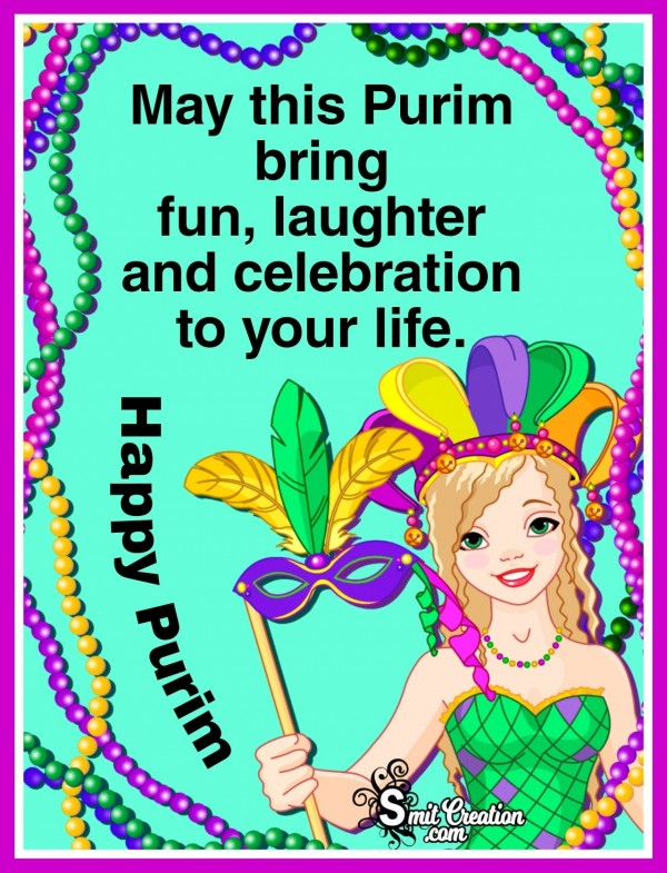 Purim Wishes Card