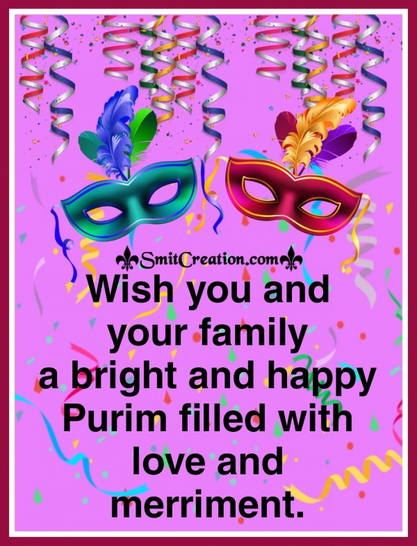 Happy Purim Wishes Card
