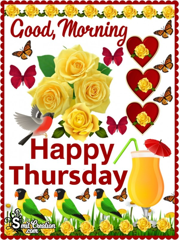 Good Morning Thursday Card