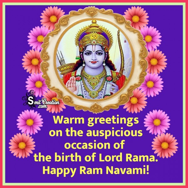 Happy Ram Navami Greeting Card