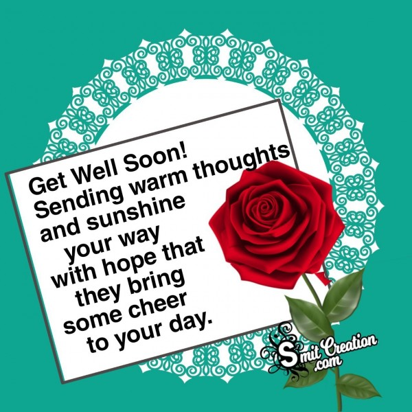 Sending Get Well Soon Message