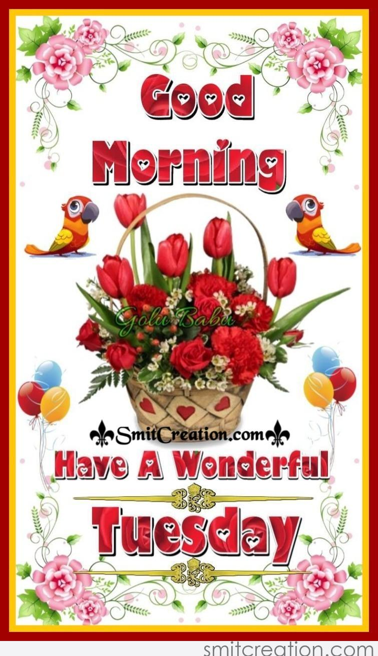 Good Morning Have A Wonderful Tuesday Smitcreationcom