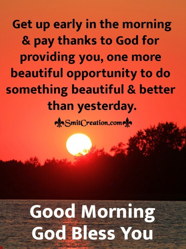 Good Morning Thanks God