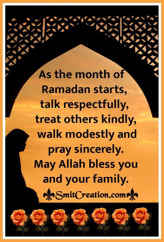 Ramadan Blessings For You And Your Family