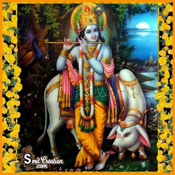 Shri Krishna With Cow