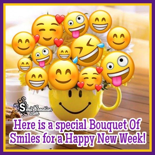 Special Bouquet Of Smiles For Happy New Week