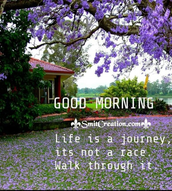 Good Morning Life Is A Journey