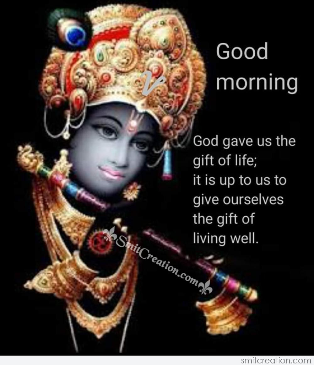 Krishna Good Morning Pictures and Graphics - SmitCreation.com