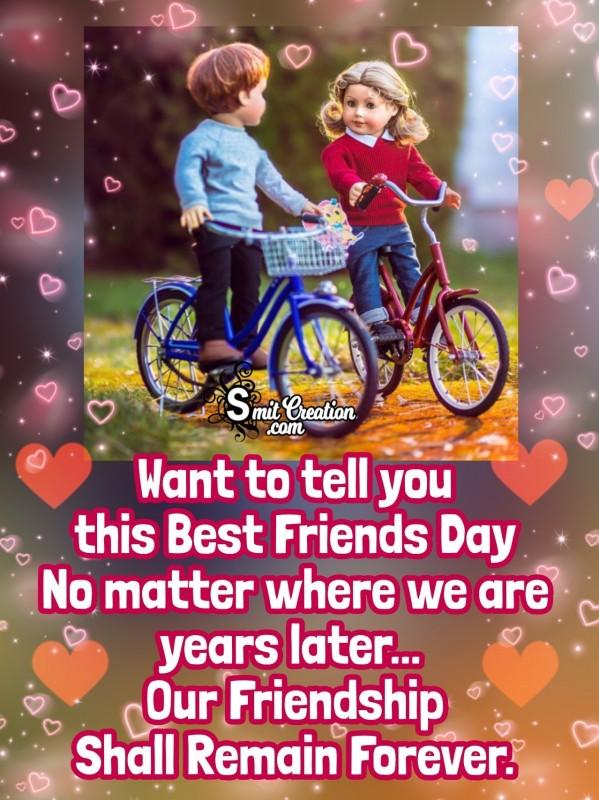 Best Friends Day Message Card