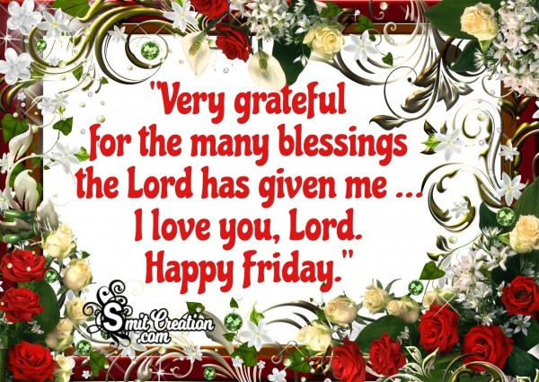 Happy Friday Blessings Of Lord