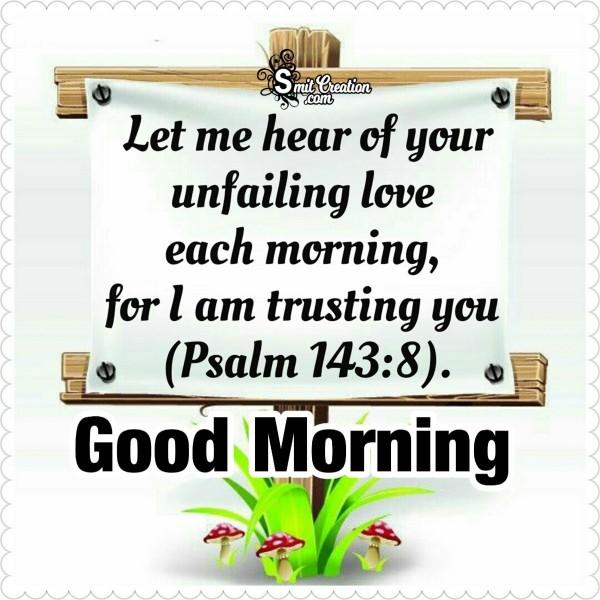 Good Morning Bible Verse