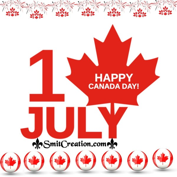 1st July Happy Canada Day Card