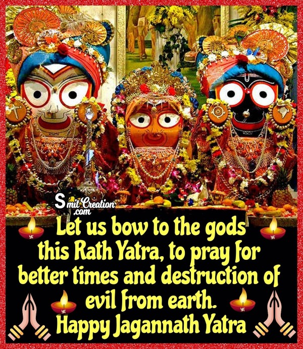 Happy Jagannath Rath Yatra Prayer