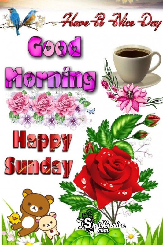 Good Morning Happy Sunday Card