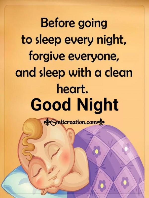 Good Night Sleep With A Clean Heart