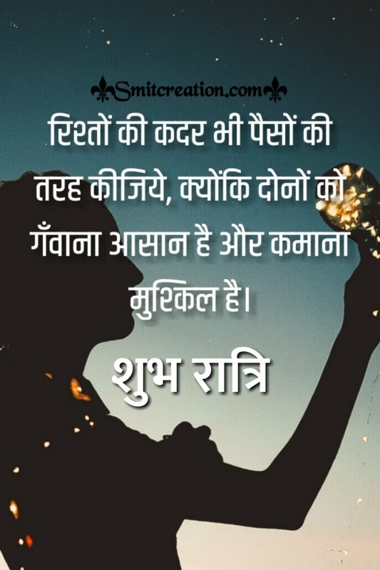 Shubh Prabhat Rishto Ki Kadar