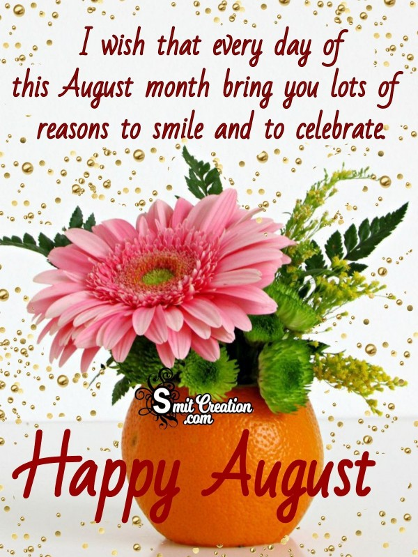 Happy August Wish