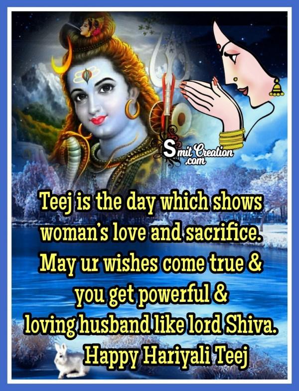 Happy Hariyali Teej Wish For Woman